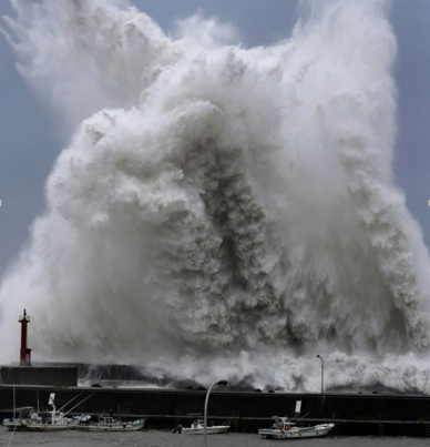 Strongest typhoon in 25 years makes landfall in western Japan